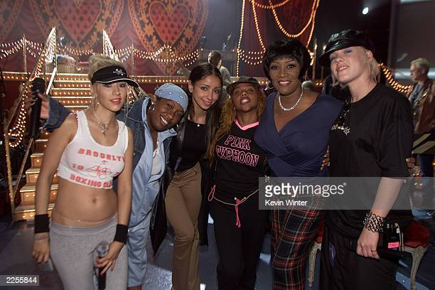 Christina Aguilera Missy Elliott Mya Lil Kim' Patti Labelle Pink and after rehearsals for the 44th Annual Grammy Awards at The Staples Center in Los...