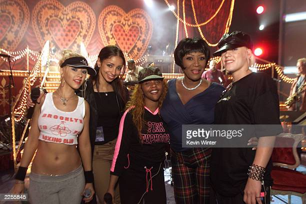 Christina Aguilera Mya Lil Kim' Patti Labelle Pink and after rehearsals for the 44th Annual Grammy Awards at The Staples Center in Los Angeles CA...