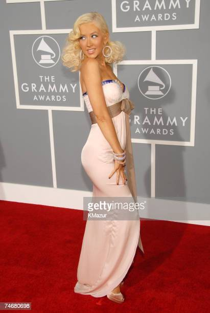 Christina Aguilera nominee Best Female Pop Vocal Performance and Best Pop Vocal Album at the Staples Center in Los Angeles California