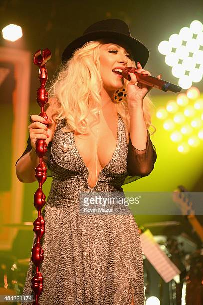 Christina Aguilera performs at Apollo in the Hamptons 2015 at The Creeks on August 15 2015 in East Hampton New York