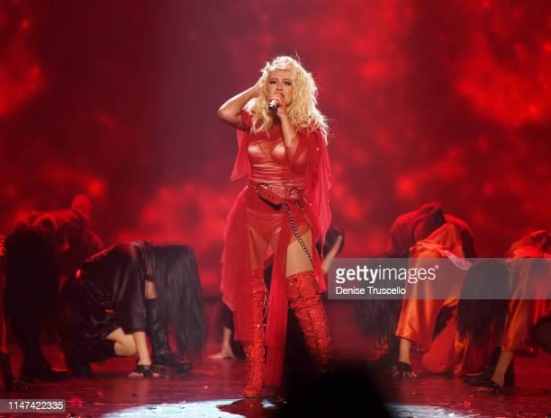 Christina Aguilera performs at the grand opening of her new Las Vegas show THE XPERIENCE at Planet Hollywood Resort Casino on June 1 2019 in Las...