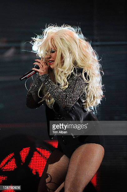 Christina Aguilera performs at the 'Michael Forever Tribute Concert' at Millennium Stadium on October 8 2011 in Cardiff Wales