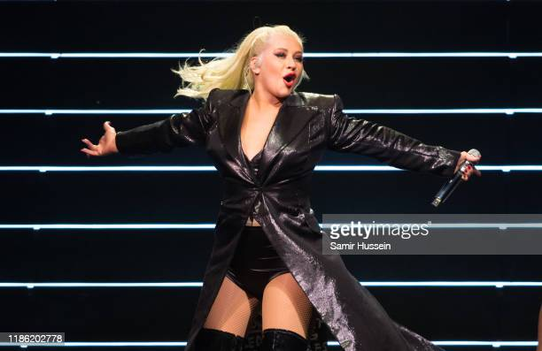 Christina Aguilera performs at The SSE Hydro on November 07, 2019 in Glasgow, Scotland.