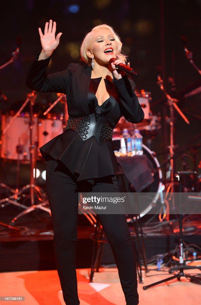 Christina Aguilera performs at the TIME 100 Gala, TIME'S 100 Most Influential People In The World at Jazz at Lincoln Center on April 23, 2013 in New York City.