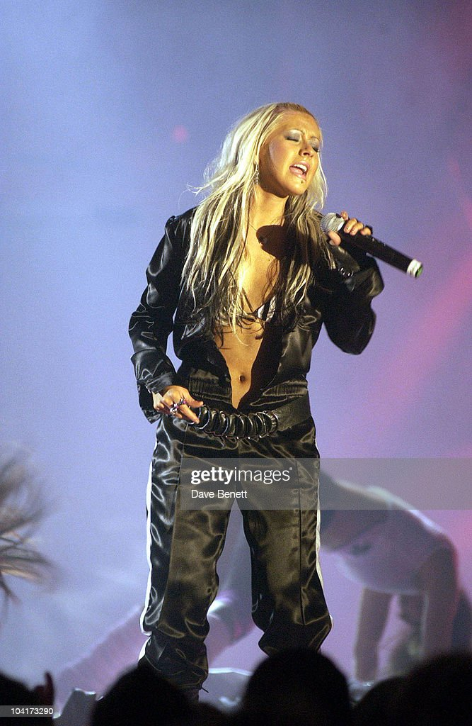Christina Aguilera Performs, Launch Party Of Xelibri Mobile Phone Held At Old Billingsgate Market In London.