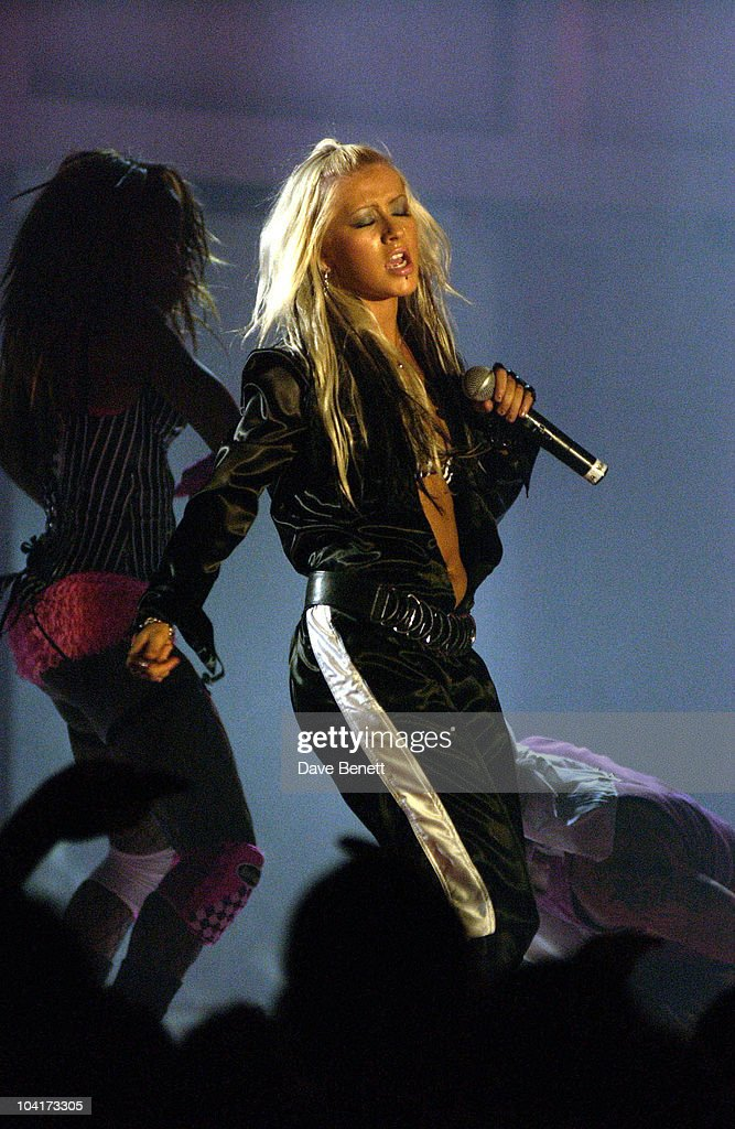 Christina Aguilera Performs, Launch Party Of Xelibri Mobile Phone Held At Old Billingsgate Market In London.