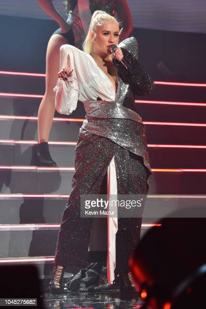 Christina Aguilera performs onstage during Christina Aguilera: The Liberation Tour at Radio City Music Hall on October 3, 2018 in New York City.