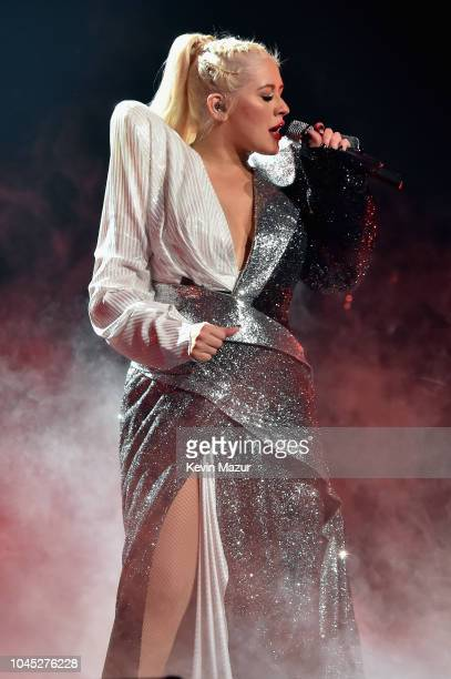 Christina Aguilera performs onstage during Christina Aguilera The Liberation Tour at Radio City Music Hall on October 3 2018 in New York City