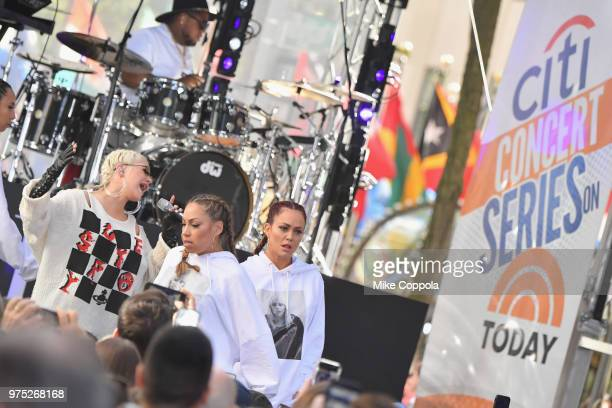 Christina Aguilera performs onstage during Citi Concert Series on TODAY Presents Christina Aguilera at Rockefeller Plaza on June 15 2018 in New York...