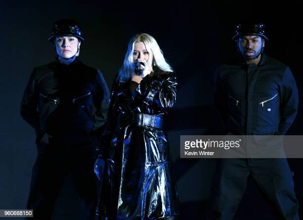 Christina Aguilera performs onstage during the 2018 Billboard Music Awards at MGM Grand Garden Arena on May 20 2018 in Las Vegas Nevada