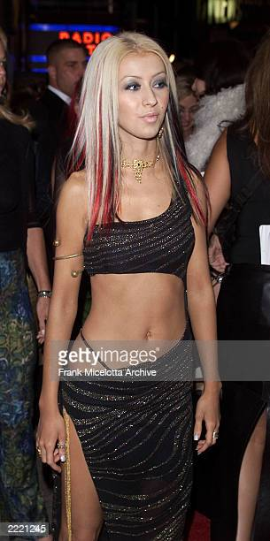 Christina Aguilera Trish Summerville arriving at the 2000 MTV Video Music Awards live from Radio City Music Hall in New York City 9/7/2000 Frank...