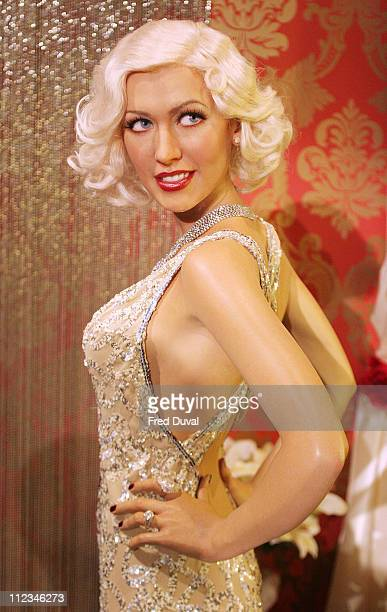 Christina Aguilera waxwork during Christina Aguilera Waxwork Unveiled at Madame Tussauds at Madame Tussauds in London Great Britain