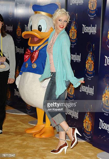 Christina Aguilera with Donald Duck