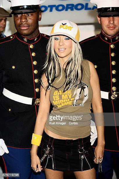 Christina Aguilera with US Marines