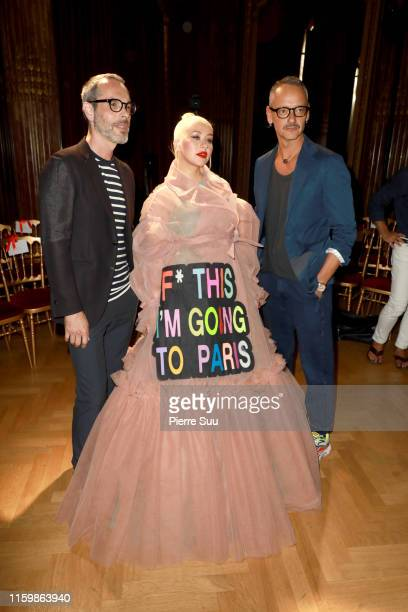 Christina Aguilera,Horsting and Rolf Snoeren Viktor attends the Victor&Rolf Haute Couture Fall/Winter 2019 2020 show as part of Paris Fashion Week on...