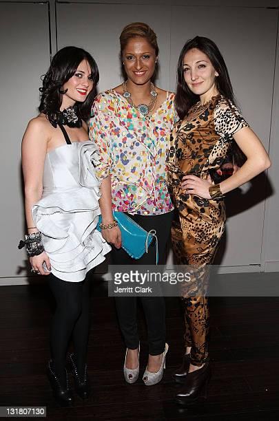 Christina Albina Anisha Lakhani and Nicole Romano attend the Style Etoile launch celebration at Double Cross Lounge on February 8 2011 in New York...