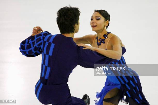 Christina and William Beier of Germany perform during the free dance at the German Figure Skating Championships 2010 at the SAP Arena on December 19...