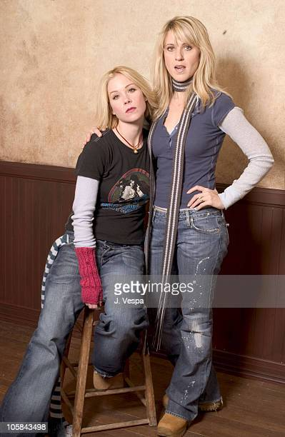 Christina Applegate and Andrea Bendewald during 2004 Sundance Film Festival 'Employee of the Month' Portraits at HP Portrait Studio in Park City Utah...