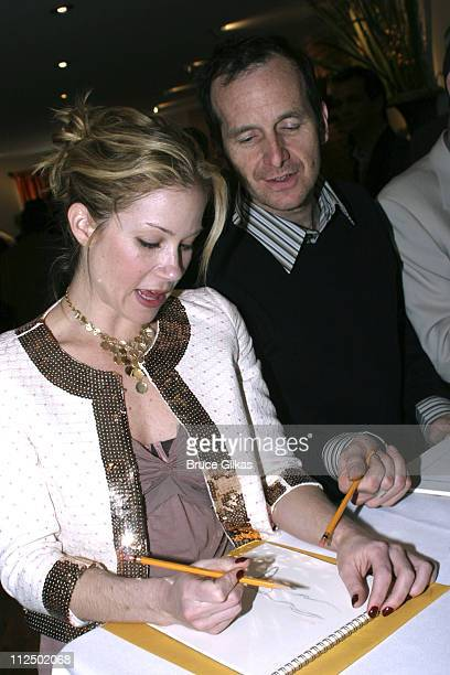 Christina Applegate and Denis O'Hare during 50th Annual Drama Desk Awards Nominations Cocktail Party at Arte Cafe in New York City New York United...