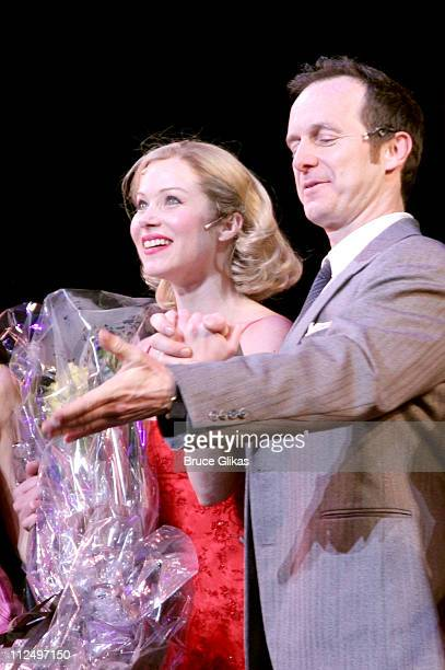 Christina Applegate and Denis O'Hare during Christina Applegate's Broadway Debut in 'Sweet Charity' at The Al Hirschfeld Theater in New York City New...