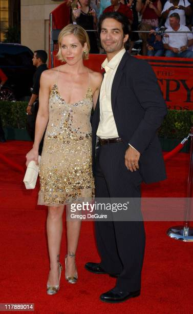 Christina Applegate and Johnathon Schaech during 2004 ESPY Awards Arrivals at Kodak Theatre in Hollywood California United States