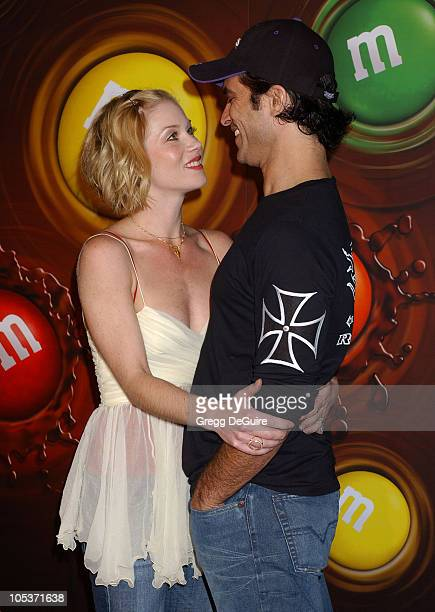 Christina Applegate and Johnathon Schaech during Experience The Color Of MM's Arrivals at The MM's Brand City in Hollywood California United States
