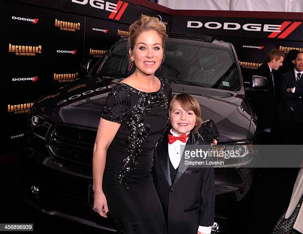 Christina Applegate and Judah Nelson attend 'Anchorman 2' Premiere NYC Sponsored By Dodge at Beacon Theatre on December 15 2013 in New York City