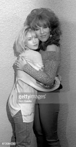 Christina Applegate and Katey Segal attend Comic Relief III on March 18 1989 at the Universal Ampitheater in Universal City California