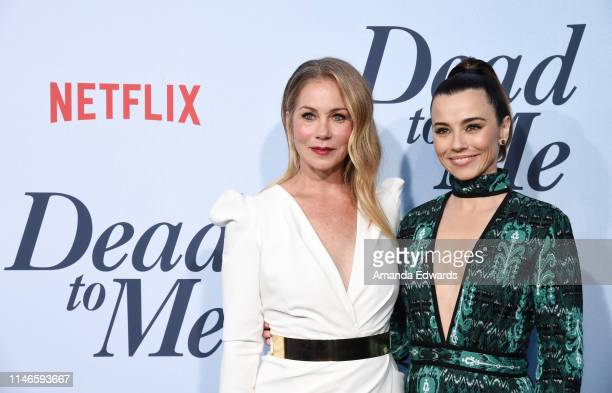 Christina Applegate and Linda Cardellini arrive at Netflix's Dead To Me Season 1 Premiere at The Broad Stage on May 02 2019 in Santa Monica California