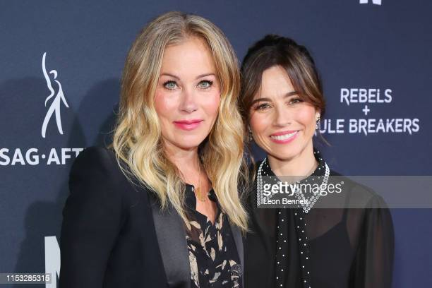 Christina Applegate and Linda Cardellini attend FYC Netflix Event Rebels And Rule Breakers at Netflix FYSEE at Raleigh Studios on June 02 2019 in Los...