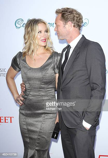 Christina Applegate and Martyn LeNoble arrive at The Dizzy Feet Foundation's 4th Annual Celebration of Dance Gala held at Dorothy Chandler Pavilion...