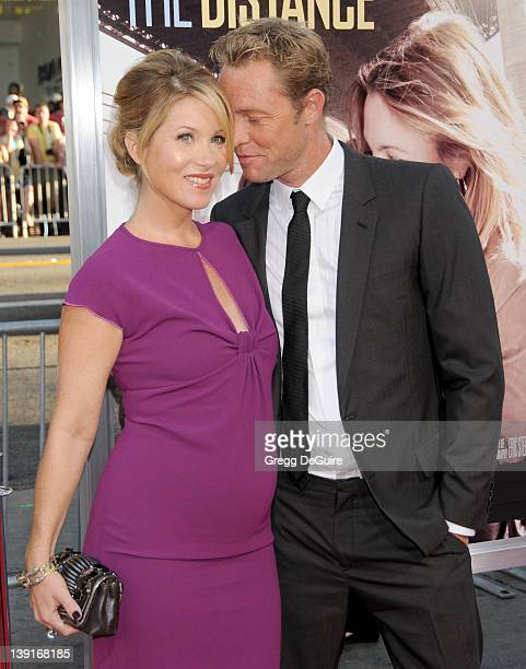 Christina Applegate and Martyn Lenoble arrive at the Los Angeles Premiere of Going The Distance at the Grauman's Chinese Theatre on August 23 2010 in...