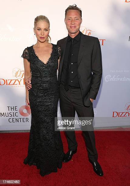 Christina Applegate and Martyn LeNoble attend the Dizzy Feet Foundation Third Celebration of Dance Gala at The Music Center on July 27 2013 in Los...