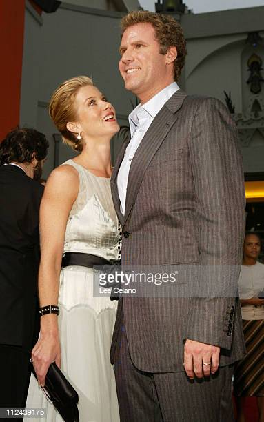 Christina Applegate and Will Ferrell during 'Anchorman The Legend of Ron Burgundy' Premiere Red Carpet at Mann's Grauman Chinese Theatre in Hollywood...