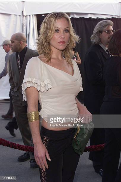 Christina Applegate arrives at the 29th Annual American Music Awards held at the Shrine Auditorium in Los Angeles CA Wed January 9th 2001