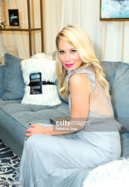 Christina Applegate attends Backstage Creations Giving Suite At The Emmy Awards Day 2 at Microsoft Theater on September 22 2019 in Los Angeles...
