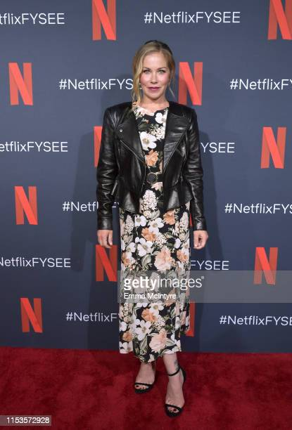 Christina Applegate attends Netflix FYSEE Dead To Me at Raleigh Studios on June 03 2019 in Los Angeles California