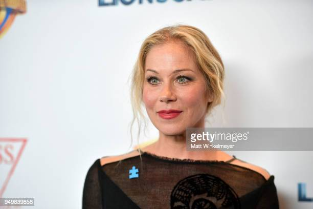 Christina Applegate attends the 5th Annual Light Up the Blues Concert an Evening of Music to Benefit Autism Speaks at Dolby Theatre on April 21 2018...