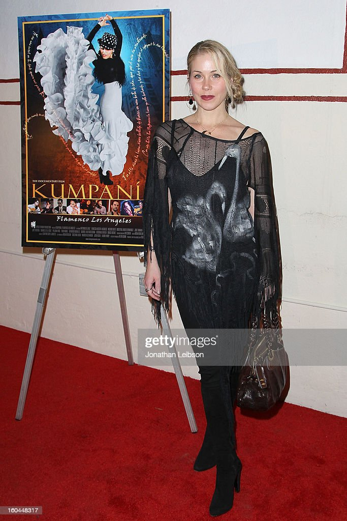 Christina Applegate attends the 'Kumpania: Flamenco Los Angeles' - Los Angeles Premiere - Arrivals at El Cid on January 31, 2013 in Los Angeles, California.