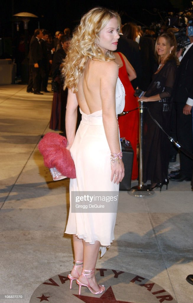 Christina Applegate during 2002 Vanity Fair Oscar Party Hosted by Graydon Carter - Arrivals at Morton's Restaurant in Beverly Hills, California, United States.