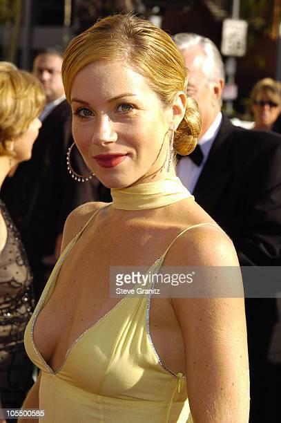 Christina Applegate during 2004 Emmy Creative Arts Awards Arrivals at Shrine Auditorium in Los Angeles California United States