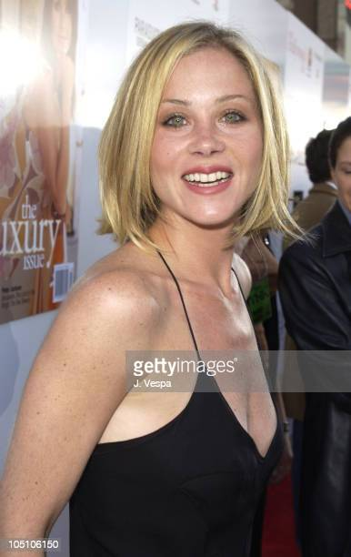 Christina Applegate during AMC Movieline's Hollywood Life Magazine's Young Hollywood Awards Red Carpet at El Rey Theatre in Los Angeles California...