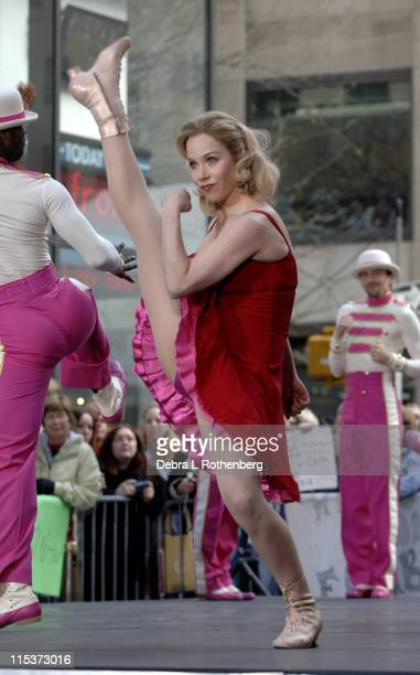 Christina Applegate during Christina Applegate Performs on the 'Today' Show Concert Series April 22 2005 at Rockefeller Plaza in New York City New...