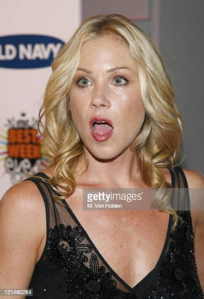 Christina Applegate during Old Navy and VH1 Celebrate the 100th Episode of Best Week Ever at Marquee in New York NY United States
