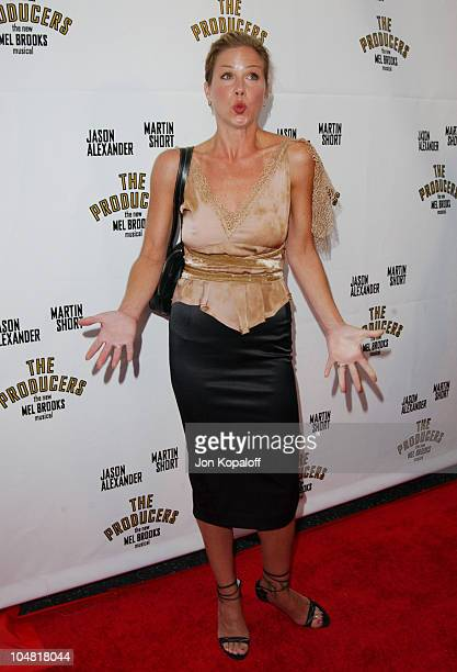 Christina Applegate during Opening Night of 'The Producers' at Pantages Theatre in Hollywood California United States