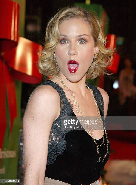 Christina Applegate during Surviving Christmas Los Angeles Premiere Red Carpet at Mann Grauman's Chinese Theater in Hollywood California United States