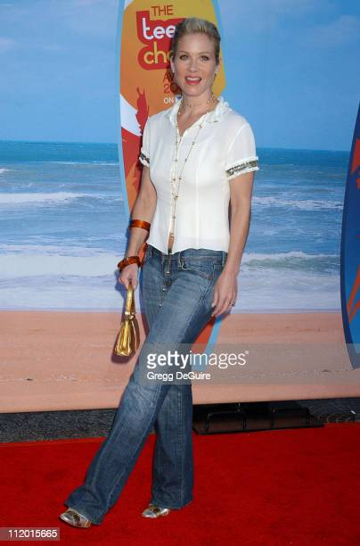 Christina Applegate during The 2004 Teen Choice Awards Arrivals at Universal Ampitheatre in Universal City California United States