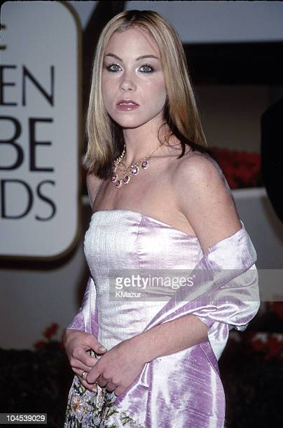 Christina Applegate during The 56th Annual Golden Globe Awards Red Carpet at Beverly Hilton Hotel in Beverly Hills California United States