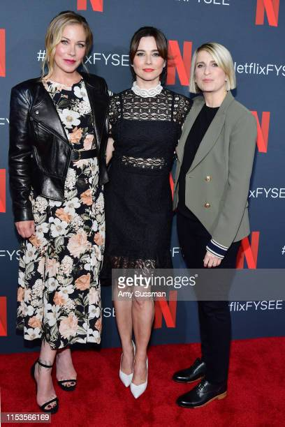 Christina Applegate Linda Cardellini and creator Liz Feldman attend Dead To Me #NETFLIXFYSEE For Your Consideration Event at Netflix FYSEE At Raleigh...