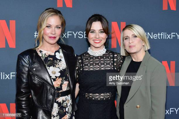 """Christina Applegate, Linda Cardellini and creator Liz Feldman attend """"Dead To Me"""" #NETFLIXFYSEE For Your Consideration Event at Netflix FYSEE At..."""
